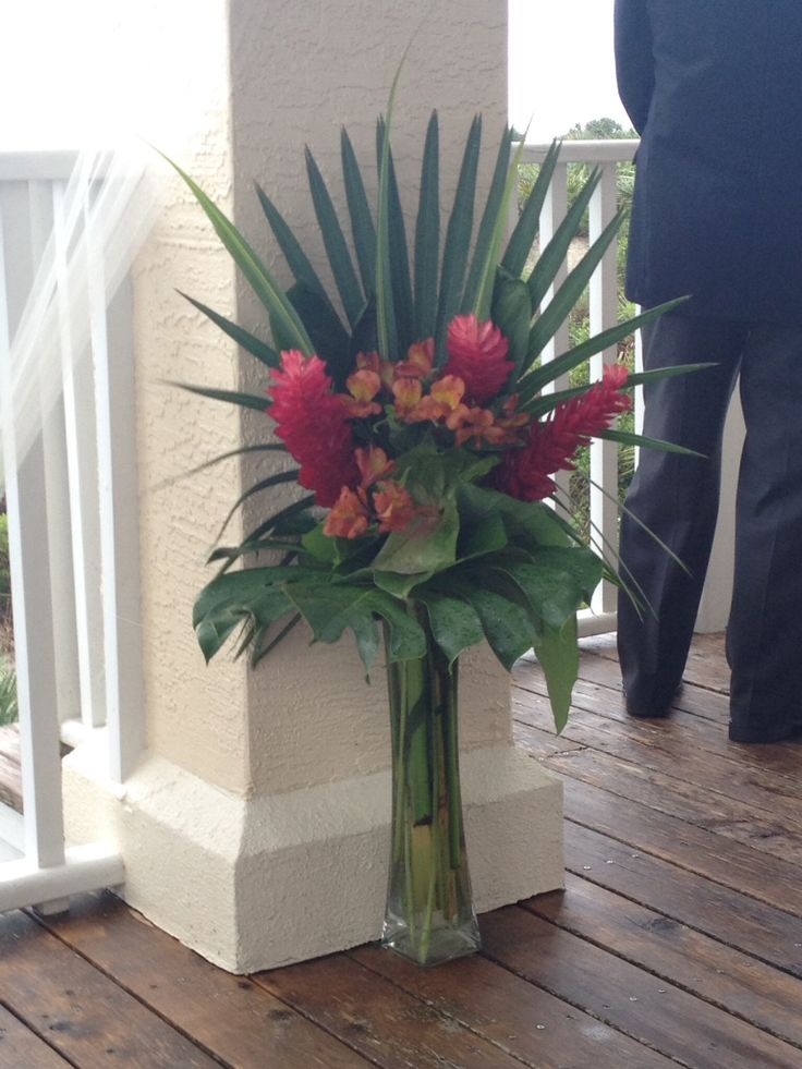 Tropical Arrangement - Ginger Flowers, Anthurium, and Alstroemeria.