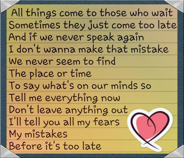 Love these westlife lyrics