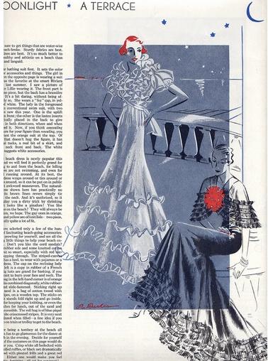 evening dresses, fashion illustration