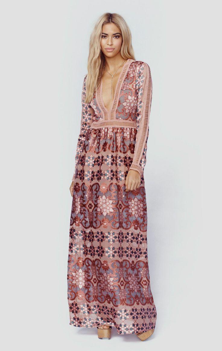 mono b maxi dress curvy