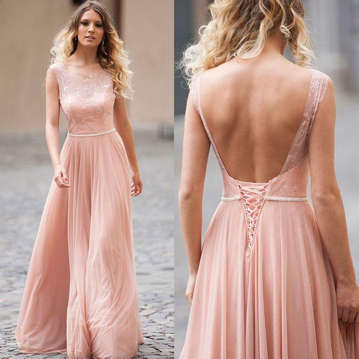 Blush Pink Bridesmaid Dresses,Lace Top Bridesmaid Dresses,Bridesmaid Dresses Long,Bridesmaid Dresses Blush Pink,FS091