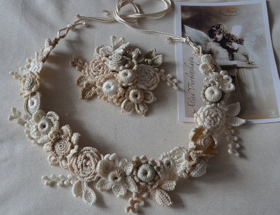 Wreath hair. Brooch. Bracelet. Wedding. hair pin by AlisaSonya