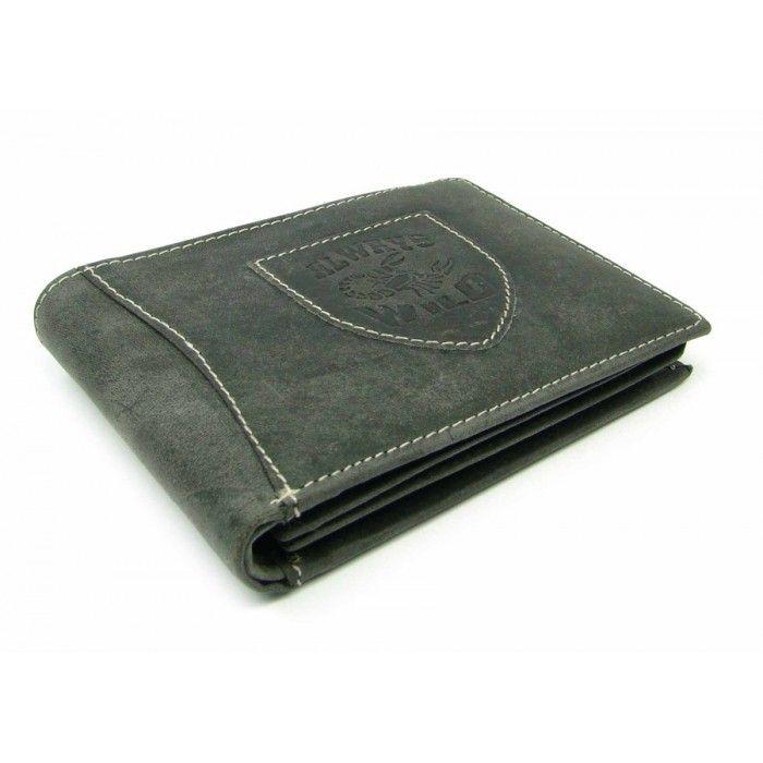 Kožená peněženka šedá pánská - peněženky AHAL