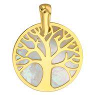 Médaille Arbre de vie (or jaune 18ct et nacre) - PremierBijou