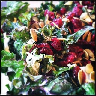 Kale salads, Kale and Cranberries on Pinterest