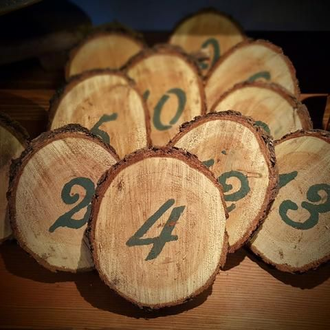 Table Marker Rustic Wood