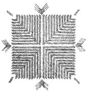 Phulkari Motif - Line Art