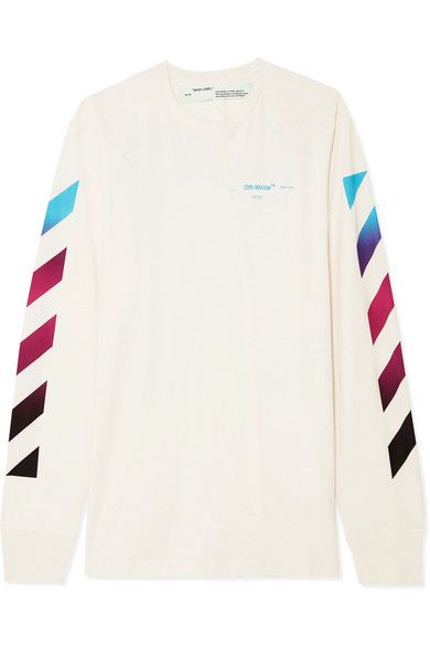 d9335926c9 Off-White - Printed cotton-jersey top