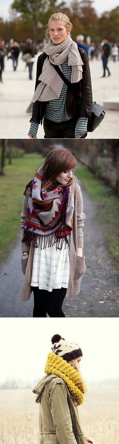 The best autumn accessory - chunky scarves
