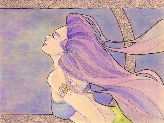 Tattooed Mermaid 4 Original Painting