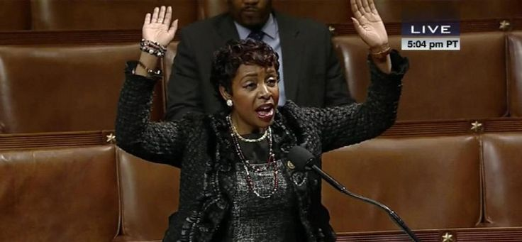 "Four Congressional Democrats, all members of the Congressional Black Caucus, on Monday gave a ""hands up, don't shoot"" display on the House floor."