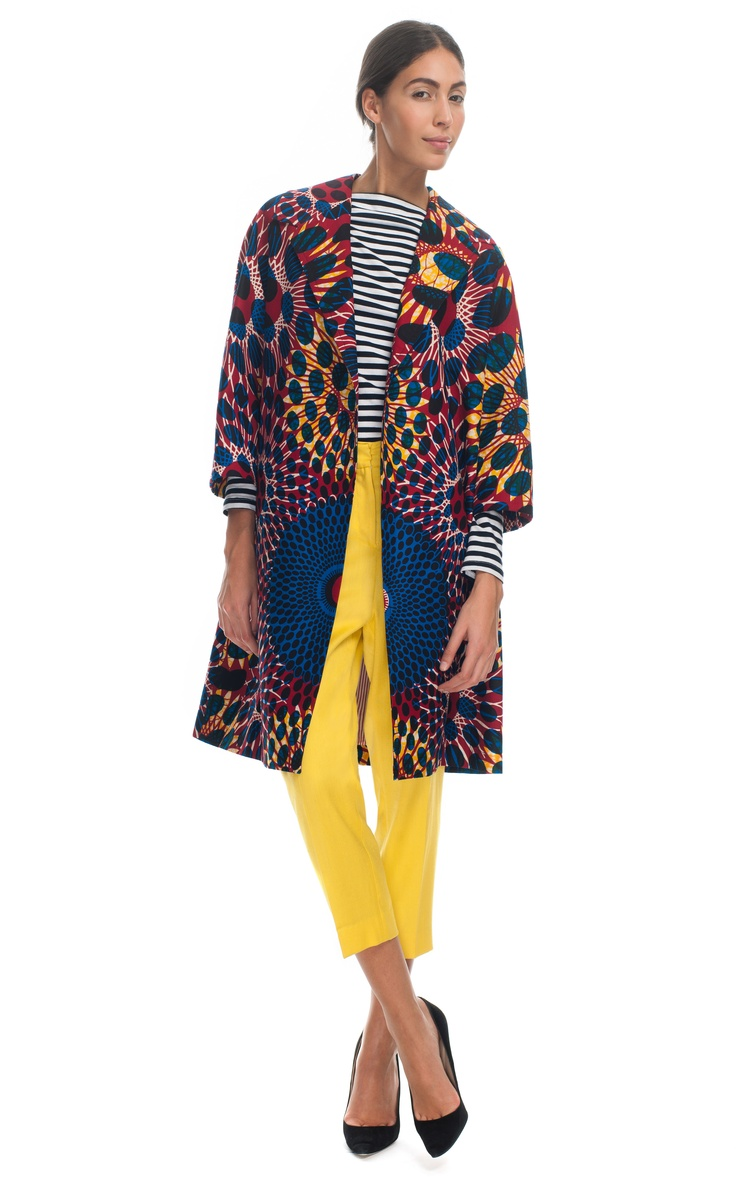Stella Jean Printed Wax Cotton Coat at Moda Operandi