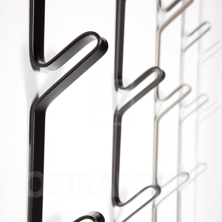 Di Di System Coat Racks designed by Alberto Basaglia + Natalia Rota Nodari for YDF | lacquered metal or polished stainless. comes in sets of 2.