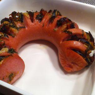 Falukorv med medelhavssmaker - Recept från Mitt kök - Mitt Kök