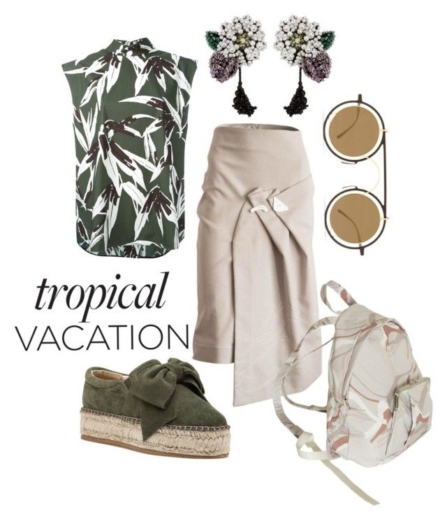 """tropical vacation"" by constantinerenakossy on Polyvore featuring J/Slides, Marni, Mykita and Constantine/Renakossy"