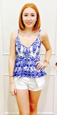 China Blue Top $39.95