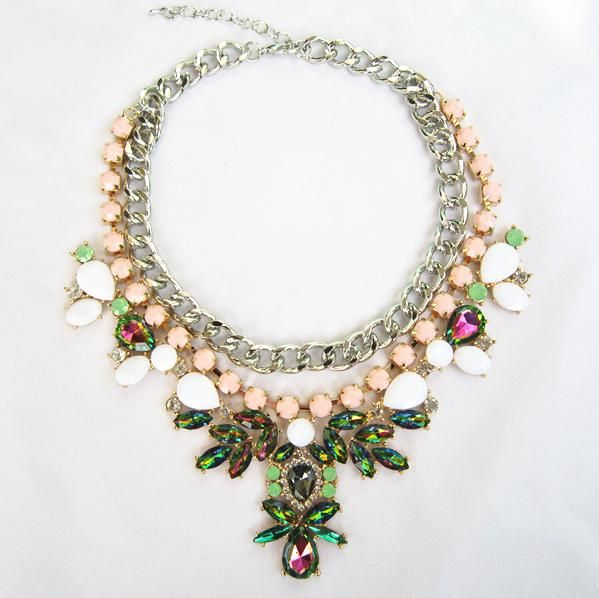 Cheap Statement Necklaces - Wholesale Necklaces Personality Designer Statement Necklace for Women Pink Online with $10.47/Piece | DHgate