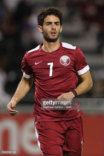 Ahmed Alaaeldin of Qatar during the AFC U23 Championship quarter final match between Qatar and North Korea at the Jassim Bin Hamad Stadium on January...