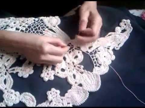 Ivelise Feito à Mão: Meus Trabalhos: Regata Com Crochê Irlandês em Cor-de-Rosa!