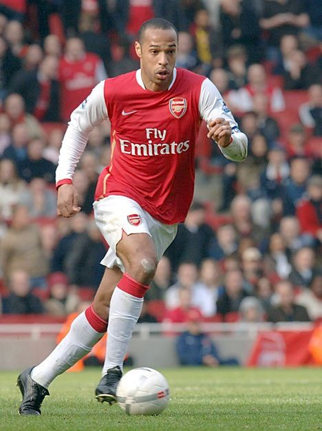 H - is for Henry the greatest player ever at Arsenal!!!
