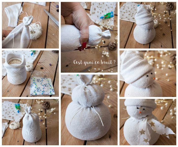 DIY le bonhomme de neige en chaussette