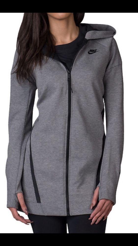 Nike Tech Fleece Mesh Cocoon Full Zip Athleisure Hoodie Women's L MSRP $180  NEW