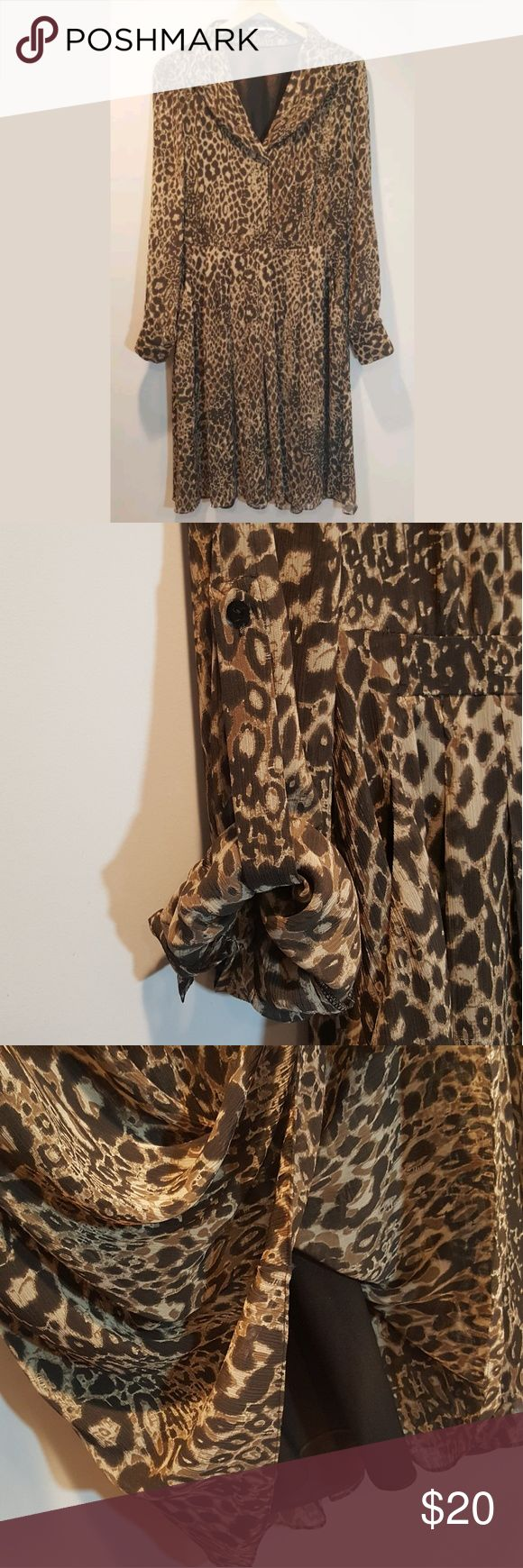 """Tahari Leopards Animal Print Long Sleeve Dress Tahari Womans Leopards Animal Print Long Sleeve Brown Career Dress Size 14  Measurements  Pit to Pit 21"""" Length 44"""" Shoulder 26""""  This Dress is pre-owned, but in great condition. No stains or tears.  Note: item might have shrunk when washed. We take great care to measure every item on a flat surface. To ensure a good fit, please see the follow measurements.  Thank you for Shopping! Be sure to add me to your favorites list! Check out my other…"""