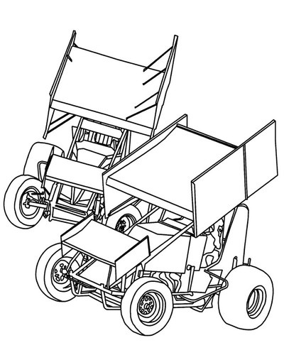 dirt sprint car coloring pages - photo#21