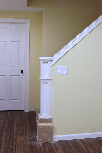 Newel and half wall...