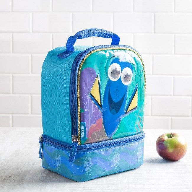 Find Dory every lunch with this Thermos lunch bag! This insulated Thermos lunch bag is perfect for taking your lunch with you. With large and small zip close compartments, a comfortable padded handle and thermal insulated design, your lunch will be as delicious as the moment it was made.