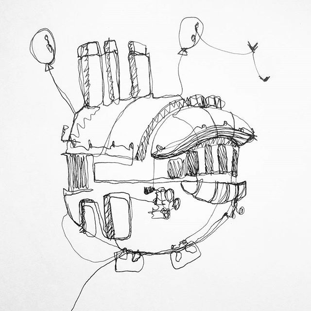 One-stroke doodle. Inspired by some work from Ian McQueen, space exploration  . . . #doodle #doodles #space #ship #spaceship #transportdesign #sketch #sketchbook #sketching #idsketching #designsketch #idea #ideation #ideating #drawing #instasketch #design #designer #designdaily #illustration #freehand #handsketch #city #cityscape