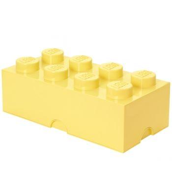Lego säilytyslaatikko 8, pastellinkeltainen