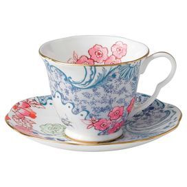 Wedgwood Butterfly Bloom Spring Blossom Tea Cup and Saucer Set
