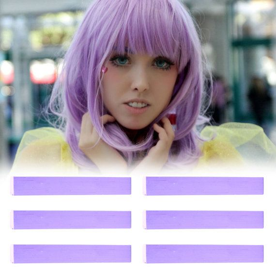 6 Best Temporary Smokey Lilac hair Dye for dark and light hair - Set of 6 | DIY Lilac hair Chalk for easy and simple hair coloring at home