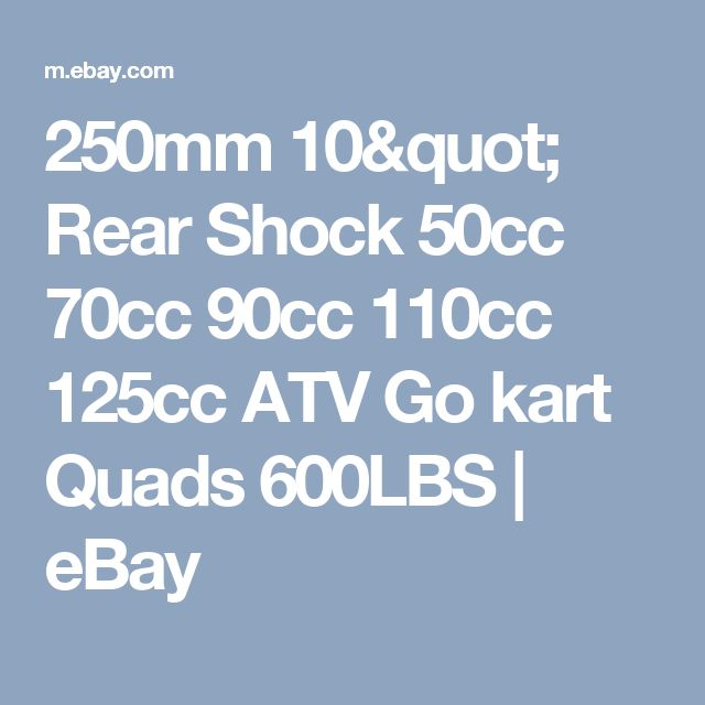 "250mm 10"" Rear Shock 50cc 70cc 90cc 110cc 125cc ATV Go kart Quads 600LBS  | eBay"