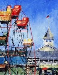 Balboa Ca. fun zone: Paintings Inspiration, Oil Paintings, Beautiful Places, Beautiful Oil, Carouselsferri Wheelsetc, Balboa Ferris, Carousels Ferris Wheels Etc, Mixed Inspiration, Wheels Ferris