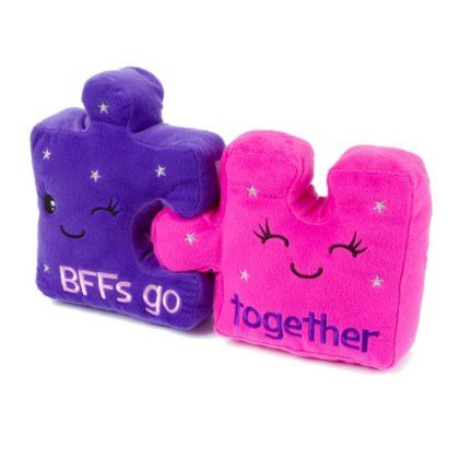 BFFs Go Together Puzzle Piece Pillow Set AAAAHHHHHH ok i get purple kyra gets pink