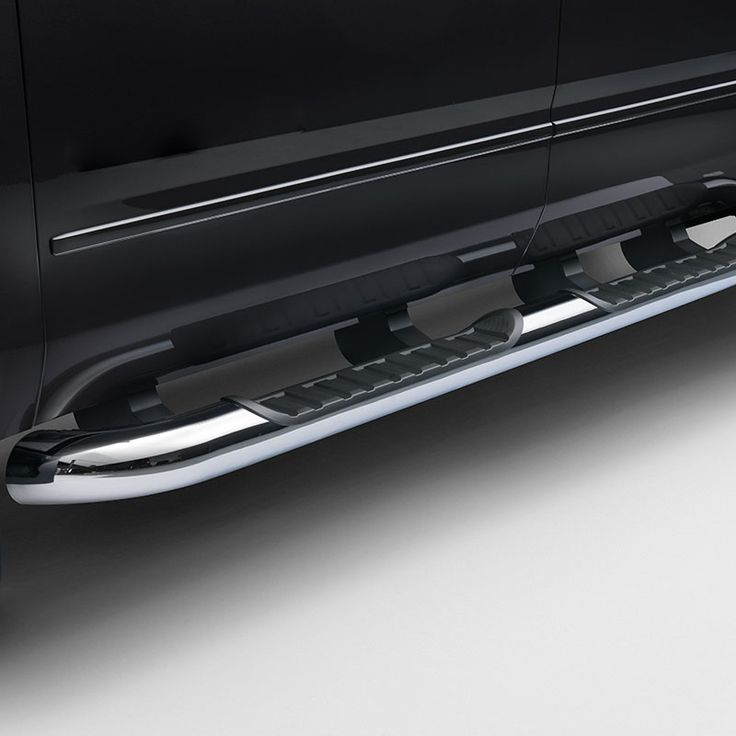 2016 #Silverado 2500 Crew Cab Assist Steps, 4in Round, Chrome, #Diesel: Stylish Assist Steps with textured step pads make it easier to get in and out of your Silverado. Chrome finish adds great style and excellent corrosion protection.