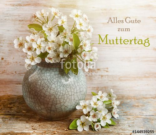 """Download the royalty-free photo """"Happy mother's day card in German: Alles Gute zum Muttertag"""" created by stillforstyle at the lowest price on Fotolia.com. Browse our cheap image bank online to find the perfect stock photo for your marketing projects!"""