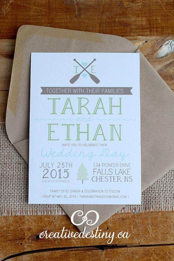 20 Cottage Wedding Invitations by ACreativeDestiny on Etsy