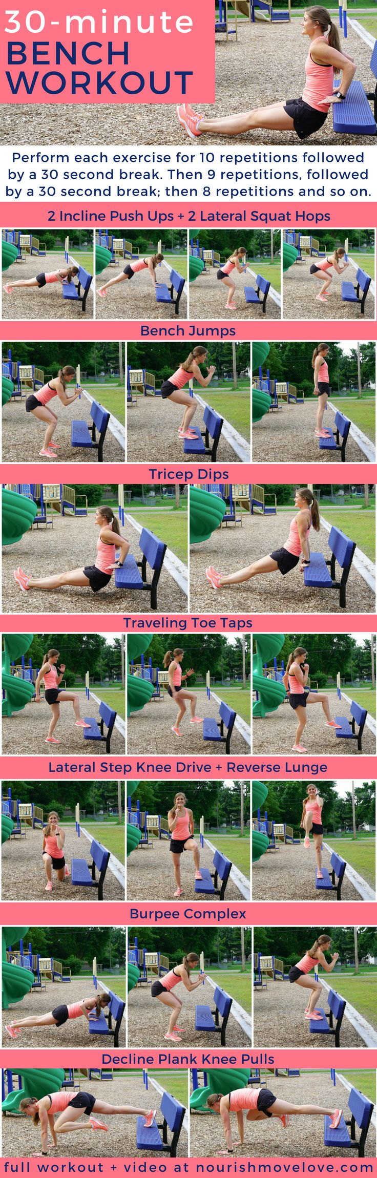 Bodyweight Bench HIIT Workout