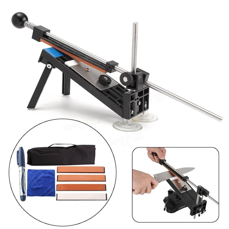 Professional Knife Sharpener Kit Sharpening System Fix-angle with 4 Stones