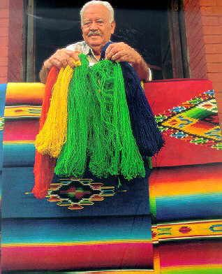 El famoso Sarape de Saltillo  Coahuila. The original Sarapes are made by artisans in Saltillo.