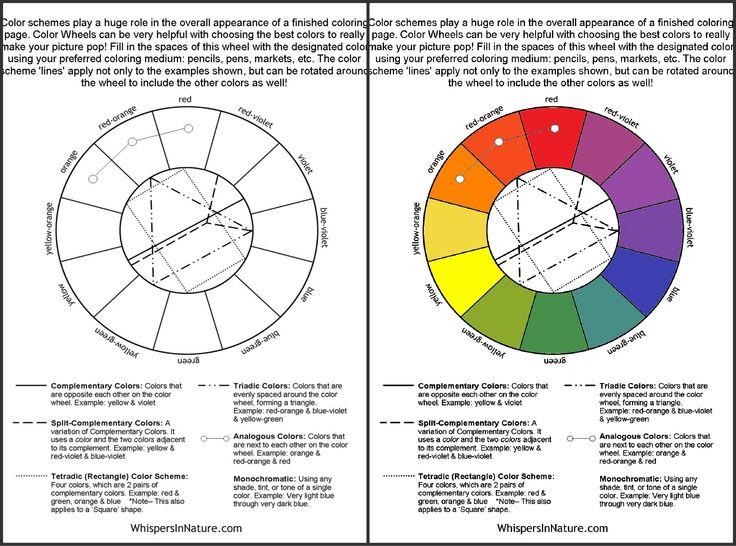 Color Wheel DIY Free Adult coloring