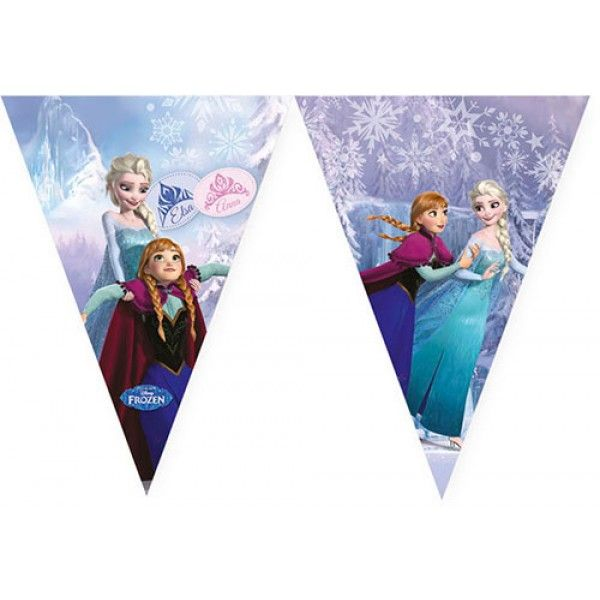 Frozen Ice Skating Triangle Banner