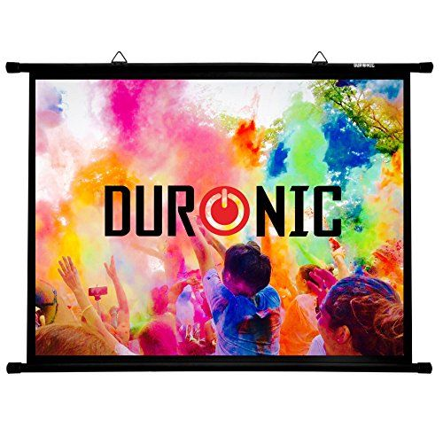From 27.99 Duronic Projector Screen 100 Bps100/43 Simple Bar Wall Mountable Hd Projection Screen For School | Theatre | Cinema | Home Projector Screen 4:3 Matte White Screen (size: 203 X 152cm)