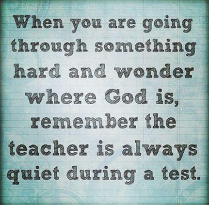 gud är där även om han är tyst