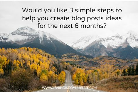 FREE workbook to help you come up with great blog post ideas easily.