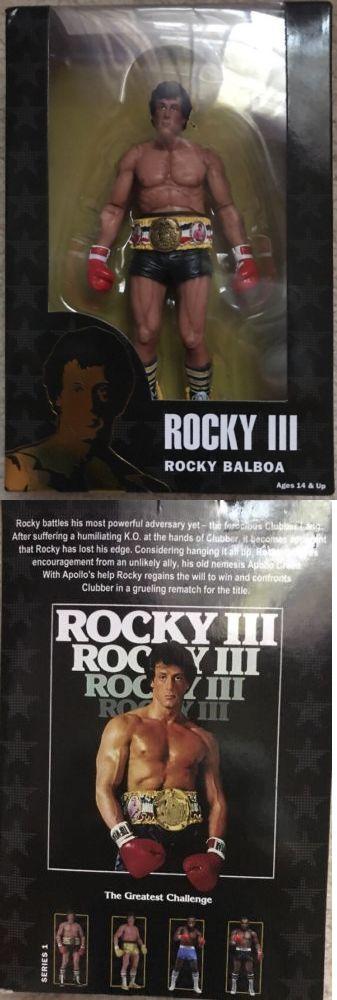 Music 175691: Rocky Balboa Black Trunks Rocky Iii Neca 40Th Anniversary 2017 7 Inch Figure -> BUY IT NOW ONLY: $36.99 on eBay!