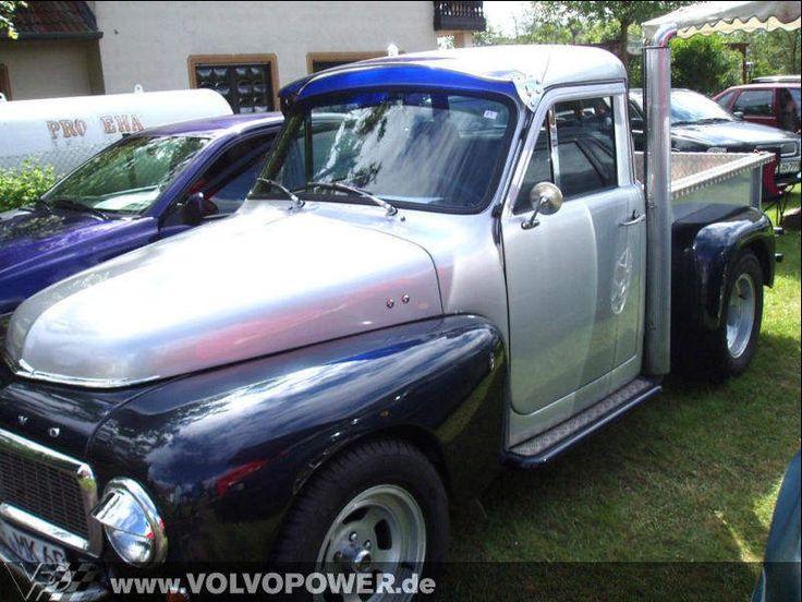 Volvo Duett modified into a pickup.